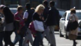 Unfocused pedestrians. Slow Motion (02) stock video