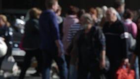 Unfocused pedestrians. Slow Motion (03) stock video