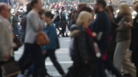 Unfocused pedestrians. Slow Motion (07) stock video footage