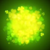 Unfocused shamrock leaves, Saint Patricks Day vector background Stock Image
