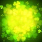 Unfocused shamrock leaves, Saint Patricks Day vector background Royalty Free Stock Photo