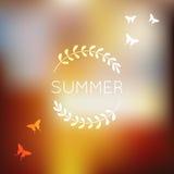 Unfocused Sommerhintergrund lizenzfreie abbildung
