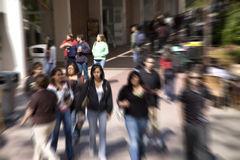 Unfocused students Stock Image