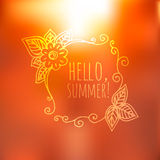 Unfocused summer poster. Stock Photography