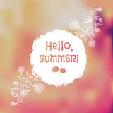 Unfocused summer poster. Royalty Free Stock Photos