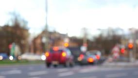 Unfocused Szene von unscharfen Autos auf Schnitt stock video