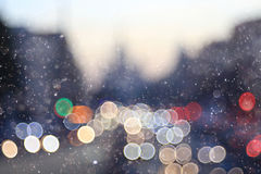 unfocused urban background with lights Royalty Free Stock Photos