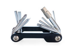Unfolded bicycle multitool Royalty Free Stock Photos