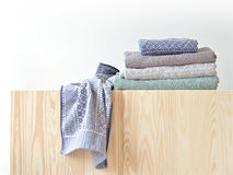Unfolded and folded towels Royalty Free Stock Photos