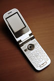 Unfolded mobile phone Royalty Free Stock Image