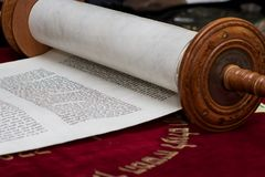 Scroll of the Torah stock photography
