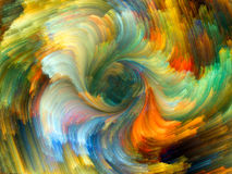 Unfolding of Color Royalty Free Stock Photography