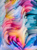 Unfolding of Color Royalty Free Stock Images