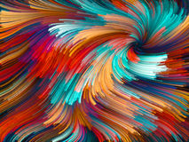 Unfolding of Color Vortex Stock Photography