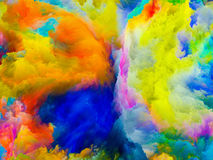 Unfolding of Colors Stock Image