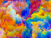 Unfolding of Colors Royalty Free Stock Photos