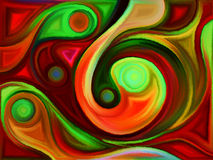 Unfolding of Colors Royalty Free Stock Images