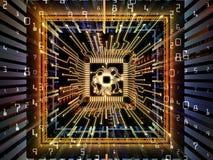 Unfolding of Computer CPU Stock Photos