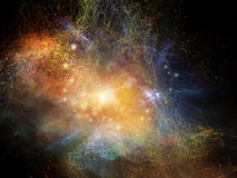 Unfolding of Fractal Nebulae Stock Photography
