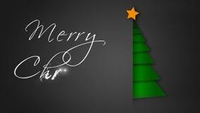 Unfolding Green Paper Merry Christmas Tree 4K