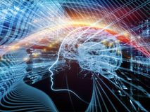 Unfolding of the Mind Stock Image