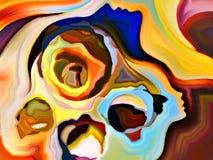 Unfolding of Mind Shapes Stock Photo