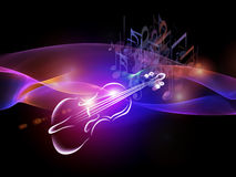 Unfolding of Music Royalty Free Stock Photo