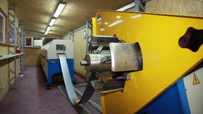 Unfolding Roll Steel. Production of Steel Profiles stock footage