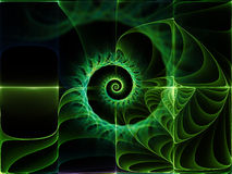 Unfolding of Space. Geometry of Space series. Visually attractive backdrop made of conceptual grids, curves and fractal elements suitable as element for layouts Royalty Free Stock Photography