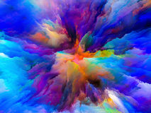 Unfolding of Surreal Paint Royalty Free Stock Photography