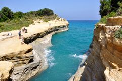 An unforgettable sight of a bay on the beaches of the island of Corfu. stock photos