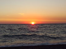 Unforgettable sunset. Sunset in the summer, in Abkhazia Royalty Free Stock Image