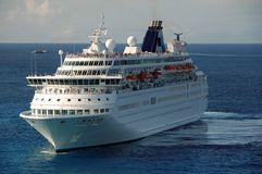 Unforgettable vacation at sea. Modern cruise ship in the Caribbean stock photography