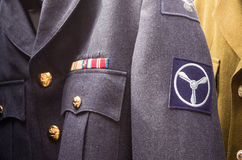 Unform. London, UK - 16th  AUGUST  2014 Portobello martek Aviator Uniforms for sale Stock Image