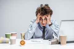 Unfortunate manager dissatisfied with his work Stock Photo