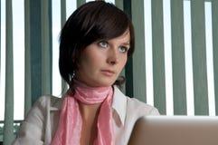 Unfriendly business woman Royalty Free Stock Photo