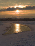 Unfrozen patch of water on the Neva Stock Image