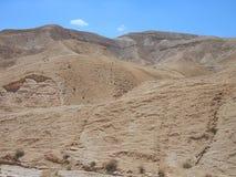 Unfruchtbare Judaean-Wüste, Israel, Heilige Länder Stockbild