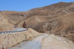 Unfruchtbare Judaean-Wüste, Israel, Heilige Länder Lizenzfreie Stockfotos