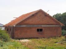 Unfunished房子 库存图片