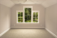 Unfurnished attic room with view Stock Photography