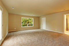 Unfurnished bedroom with carpet. Royalty Free Stock Photo