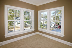 Unfurnished bedroom with view stock photo