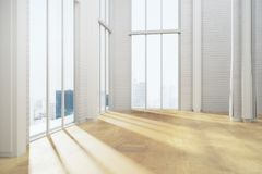 Unfurnished light room interior Royalty Free Stock Photos