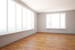 Unfurnished modern interior side Royalty Free Stock Photo