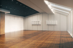 Unfurnished office sideview Royalty Free Stock Photos