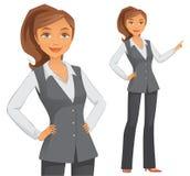 Ung affärskvinna royaltyfri illustrationer