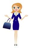Ung affärskvinna stock illustrationer