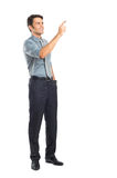 Ung affärsman Pointing Arkivbild