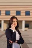 Ung ambitiös affärskvinna Royaltyfri Fotografi